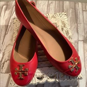 Tory Burch Red Everly Flat